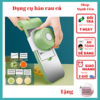 Bộ dụng cụ cắt gọt bào rau củ bảo vệ tay bằng thép không gỉ 5 in 1 nâng cấp máy cắt và cắt rau củ, nâng cấp an toàn kèm khăn lau bếp BaoAn - màu ngẫu nhiên - Hàng chính hãng