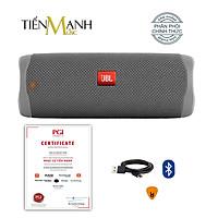 [Bluetooth] Loa JBL Flip 5 (Màu Xám) - Loa Nghe Nhạc Waterproof Portable Speaker Hàng Chính Hãng - Kèm Móng Gẩy DreamMaker