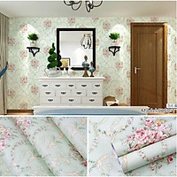 Giấy dán tường nhiều mẫu Giấy bán theo mét có keo sẵn trang trí nhà cửa đẹp dễ dàng