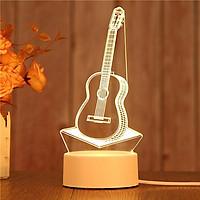 Đèn ngủ 3D hình ĐÀN GUITAR quà tặng độc đáo