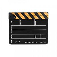 Bảng Clapper Đạo Cụ Quay Phim Chụp Ảnh Với Thanh Vàng Đen Và Trắng (30 x 24.3 x 1.8cm)