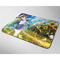 Miếng lót chuột mẫu Anime Hoa Hướng Dương (20x24cm)