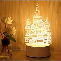 Đèn ngủ 3D trang trí phòng nhiều hình dễ thương