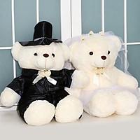 Gấu bông cô dâu chú rể cao 40cm TNB231