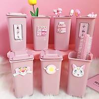 Ống nhựa đựng bút sáng tạo Sakura hình thùng rác mini - Mẫu ngẫu nhiên