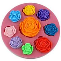 Khuôn rau câu silicon 9 hoa hồng