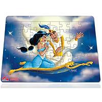 Xếp hình Tia Sáng Aladin và cây đèn thần  (48 Mảnh Ghép) - Tặng kèm câu đố mặt sau cho bé