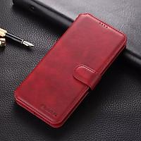 Bao da ốp lưng dành cho  điện thoại samsung S20 S21 Plus ultra FE - Note 20 ultra plus + kèm ví gập nắp da thật mềm mịn - azns