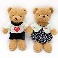 Cặp gấu bông Teddy Bear Hug Me trang phục sang trọng - Hugme202