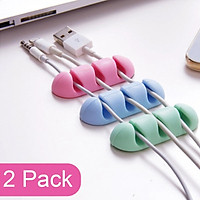 2pcs Cable Organizer Office Silicone Usb Cable Organizer Wire Winder Holder Desk Cord Clip For Charger Protector