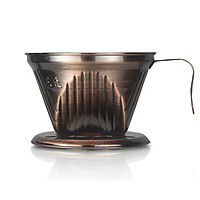 Dụng cụ pha cafe pour over Beehouse dripper 2-4 cups màu đồng