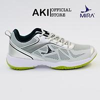 Giày cầu lông Mira 19.1 Xám thể thao nam nữ chính hãng chất lượng - LI004