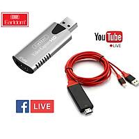 Bộ Thiết Bị Live Stream Dành Cho Điện Thoại USB Video Capture Card Earldom W17 - Hàng Chính Hãng