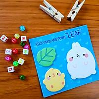 Giấy Ghi Chú Note Phân Trang Molang & Piu Piu Tặng Kèm Bút Chì - Leaf