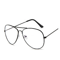 Boy Girl Clear Lens Glasses Anti Blue-ray Full Metal Frame Fashion Student Goggle Eyeglasses