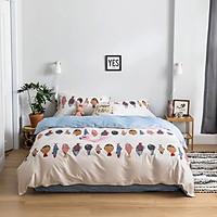 Bộ ga và chăn chần cotton Sweet Love FSL1067 ( 5 món )
