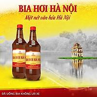 Bia Hơi Hà Nội chai pet ( 1 lít )