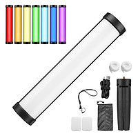 FLASHOOT FL-T6 30W RGB LED Video Light Mini Handheld Photography Light Bi-Color Temperature 2800K-8500K with Tripod