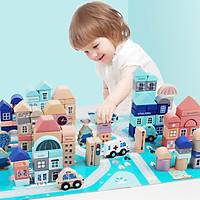 Trò chơi xây dựng thành phố theo trí tưởng tượng, sở thích của bé, đào tạo kỹ sư tương lai