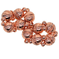10pcs Copper 8mm Engraved Round Ball Magnetic Clasps Findings For DIY Necklaces Bracelets Jewelry Making Connector Silver/Gold/Rose gold