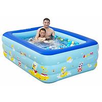 Bể Bơi Bơm Hơi Trẻ Em 3 Tầng Dày Kích Thước 210*135*60 cm Tặng Bơm ( Giao Ngẫu Nhiên )
