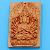 Mặt gỗ hoàng đàn Phật Thiên Thủ Thiên Nhãn MGPBM8
