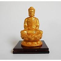 Tượng Phật A  Di Đà màu vàng nhũ trang trí xe ô tô phong thủy may mắn bình an TPT34