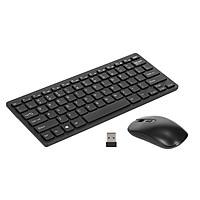 KM901 Keyboard Mouse Combo 2.4G Wireless 78 Key Mini Keyboard and Mouse Set Portable Office Combo