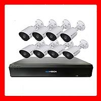 Trọn bộ 8 camera KBVISION Full HD 1080p - Hàng chính hãng