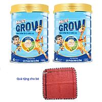 2 hộp Sữa Nuvi GROW 4 900g của Nutifood, phát triển chiều cao tối ưu cho trẻ từ 2 tuổi trở lên. Tặng khăn mặt cotton mềm min