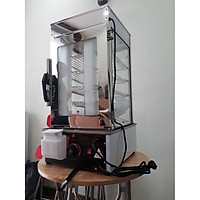 Tủ hấp bánh bao 5 tầng điều chỉnh nhiệt độ từ 0 đến 110 độ ,  có phao tự ngắt khi nước cạn để không bị cháy tủ.