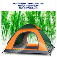 Lều cắm trại 4 người lều dã ngoại du lịch 2 cửa chống nắng hiệu quả có quai đeo