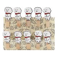 Bộ Kẹp Ảnh Gỗ - Cún Rj (9 x 12 cm)