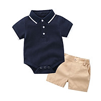 Baby Boy Clothes Set Summer Formal Short Sleeve T-Shirt Summer+Shorts Cotton 2PCS Infant Clothing