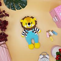 Gấu bông móc len Amigurumi cao cấp - Sư Tử Leo quà tặng nhồi bông tạo hình sư tử cho bé - SP000209