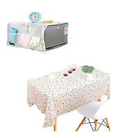 Bộ 1 Khăn trải bàn PVC chống thấm nước + 1 Tấm phủ tủ lạnh,lò vi sóng đa đăng(Giao họa tiết ngẫu nhiên)