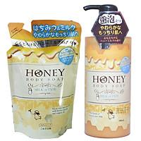 Sữa Tắm Dưỡng Trắng Da Tinh Chất Sữa Tươi (Túi) 400ml Và Mật Ong Nhật Bản HONEY MILK (Chai) 500ML