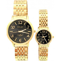 Cặp đồng hồ Nam Nữ Halei - HL484 Dây vàng