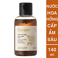 Nước hoa hồng cocoon 140ml (rose water toner) Cấp ẩm cho da