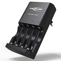 Bộ sạc pin AA, AAA thông minh ANSMANN Powerline 4 - Hàng chính hãng