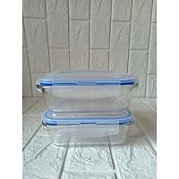 bộ 2 hộp thủy tinh đựng thực phẩm loại 1000ml