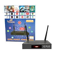 Android TV Box Vinabox X2 Plus (Đen) Chip lõi tứ RK3229 , Phiên bản mới Android 7.1.2 , 02 Râu...