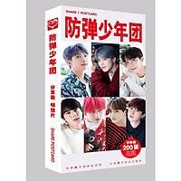 Hộp ảnh postcard  BTS 200 tấm mới nhất tặng vòng tay  chỉ đỏ may mắn