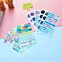 Combo 2 Bộ 6 Tấm Sticker Dán Trang Trí Hành Tinh Và Ghi Chú Đủ Màu