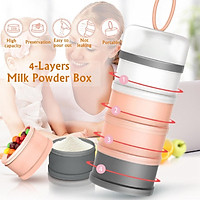 480ML 4Layers Portable Baby Milk Powder Container Food Fruit Storage Box