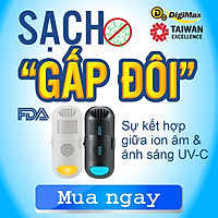 Combo siêu sạch - Máy lọc không khí, diệt khuẩn phòng kín Digimax Ion Âm (DP-3D6) + UV-C (DP-3E6) (Hàng nhập khẩu)