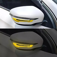 Bộ 2 decal phản quang chống xước gương chiếu hậu ô tô