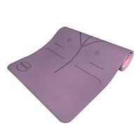 Thảm tập Yoga Sportslink Sunny định tuyến TPE 2 lớp 6mm