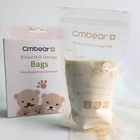 Hộp 30 Túi Đựng Sữa Mẹ CMBEAR - ZRM-0601 Chính Hãng 220ml Khóa Ziper Chống Rò