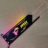 Đỡ VGA Led RGB Logo MSI đồng bộ màu với bộ điều khiển Coolmoon Controller - Hàng nhập khẩu